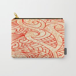 Layered Tapa Carry-All Pouch