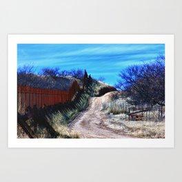Border Fence Two Art Print
