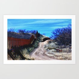Border Fence Two Art Print