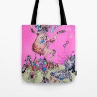 gemini Tote Bags featuring gemini by Kira Leigh