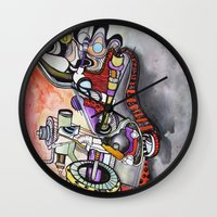 technology Wall Clocks featuring Technology System1 by infloence