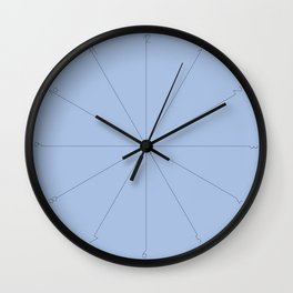 Radial azul numbers Wall Clock