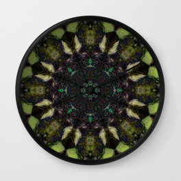 """Endless Arrows"" tree trunk reflection Wall Clock"