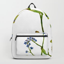 Forget-me-not flowers watercolor art Backpack