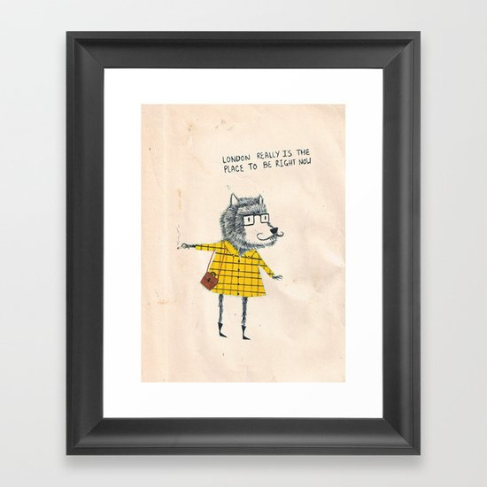 Things my friends say Framed Art Print