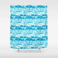 ice Shower Curtains featuring Ice. by Assiyam