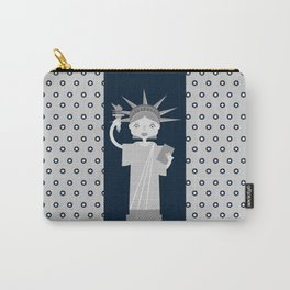 Liberty Statue smiling Carry-All Pouch