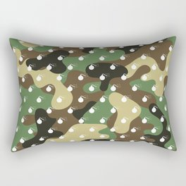 BOMB PATTERN - CAMO & WHITE - LARGE Rectangular Pillow
