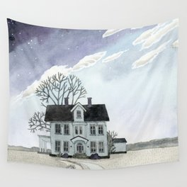House under the Starry Skies Wall Tapestry