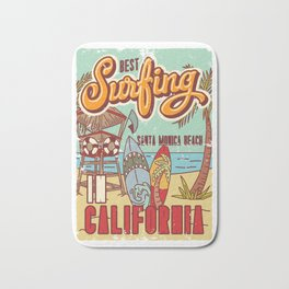 The Best Surfing – Santa Monica Beach Bath Mat