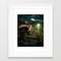 popeye Framed Art Prints featuring Popeye by Geison Araujo