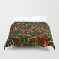 rasta Duvet Covers featuring Rasta Time... by Cherie DeBevoise