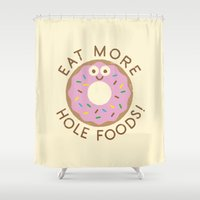 simpson Shower Curtains featuring Do's and Donuts by David Olenick