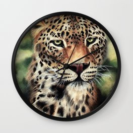Leopard I Wall Clock