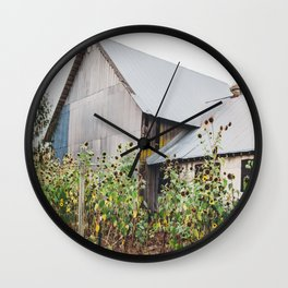 Metal Barn Wall Clock