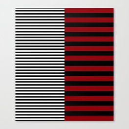 Different Sides (red) Canvas Print