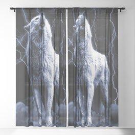 WHITE FANG Sheer Curtain