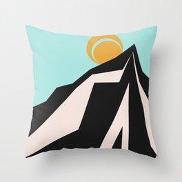 Sun and Mountains Throw Pillow