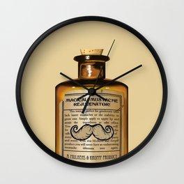 Magical Mustache Rejuvinator Wall Clock