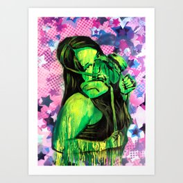 Graff Chick Art Print