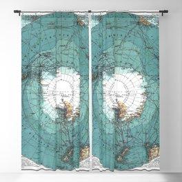 Antarctica Vintage map Blackout Curtain