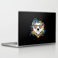 hip hop Laptop & iPad Skins featuring Hip-Hop Polar Bear by 1986