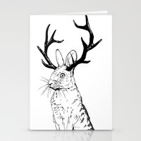 jackalope Stationery Cards featuring Jackalope by JChauvette