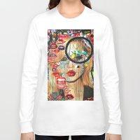 poker Long Sleeve T-shirts featuring Poker Face by Katy Hirschfeld