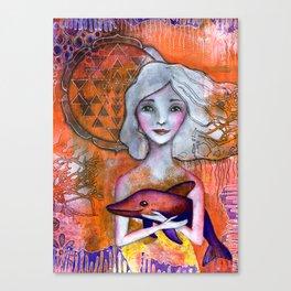 Dolphin Love Canvas Print