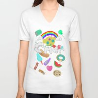 """obey V-neck T-shirts featuring Obey by C*MAR """"Creative Minds Are Rare"""""""