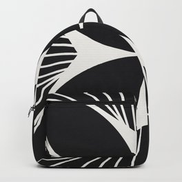 Diamond Series Floral Cross White on Charcoal Backpack