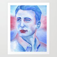 chris evans Art Prints featuring Chris Evans by thinkpassion