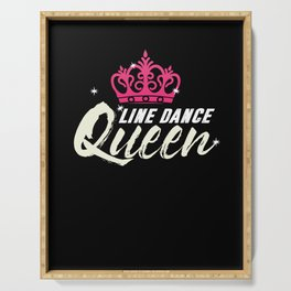 Line Dance Queen Crown Country Music Cowgirl Gift Serving Tray