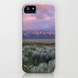 Teton Range Sunrise iPhone Case