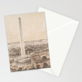 Vintage Pictorial Map of Washington DC (1852) Stationery Cards