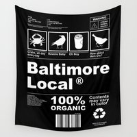 baltimore Wall Tapestries featuring Baltimore Local by O'Postrophy