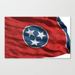 Tennessee Fancy Flag Canvas Print