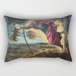 "Tintoretto (Jacopo Robusti) ""Creation of the animals"" Rectangular Pillow"