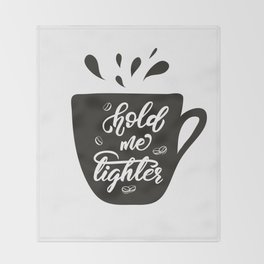 Coffee lettering Throw Blanket