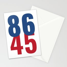 86 45 Anti Trump Impeachment T-Shirt / Politics Gift For Democrats, Liberals, Leftists, Feminists Stationery Cards