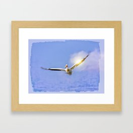 On the Angel's Wings Framed Art Print