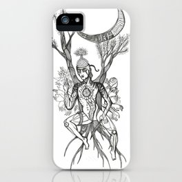 Buddha Under Bodhi Tree iPhone Case