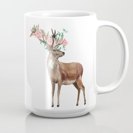 Boho Chic Deer With Flower Crown Coffee Mug
