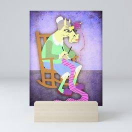 Yarn Holder Unicorn Mini Art Print