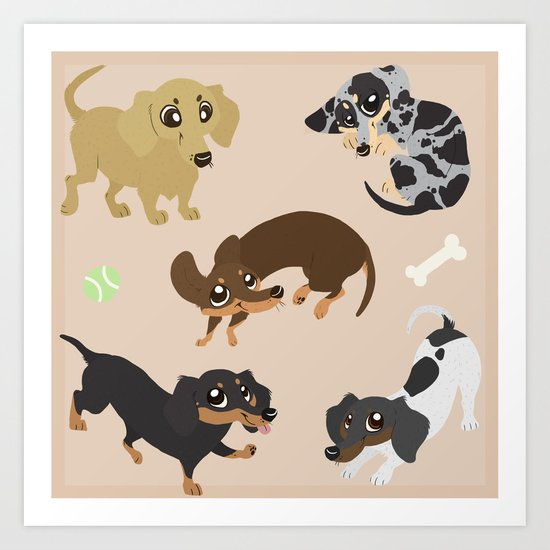 Dachshunds Art Print