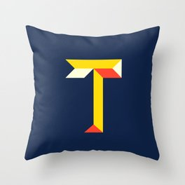 "Letter ""T"" Throw Pillow"