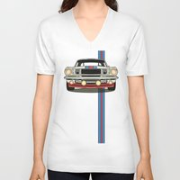 martini V-neck T-shirts featuring Martini Mustang by Marius Dumitrascu