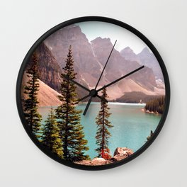 Moraine Lake Wall Clock