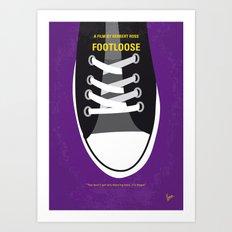 No610 My Footloose minimal movie poster Art Print