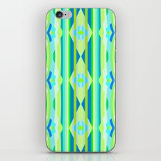 Blue yellow and green abstract iPhone Skin